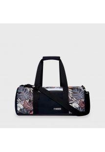 Black waterproof sports / travel bag in tropical print - DRY DUFFEL MID-NIGHT BLACK