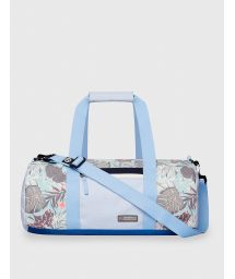 Light blue waterproof sports / travel bag in tropical print - DRY DUFFEL ORGANIC TEAL