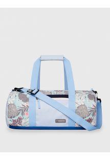 Sac de voyage/sport imperméable bleu imprimé tropical - DRY DUFFEL ORGANIC TEAL