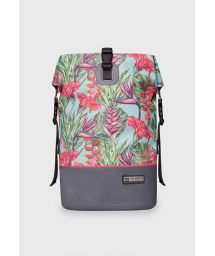 Multi-color waterproof backpack with leaf motif - DRY TANK MINI HARMONY MINT