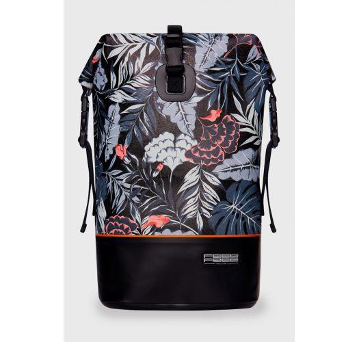 Black waterproof backpack with leaf motif - DRY TANK MINI MID-NIGHT BLACK