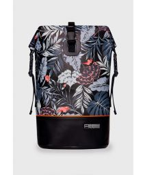 Black waterproof backpack with leaf motif - DRY TANK MINI MID-NIGHT BLACK