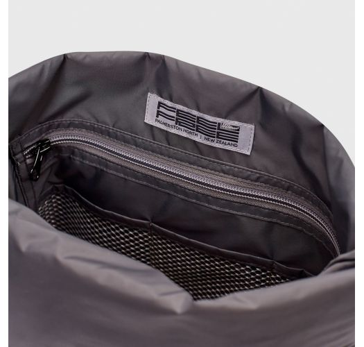 Turquoise waterproof backpack with leaf motif - DRY TANK MINI ORGANIC TEAL
