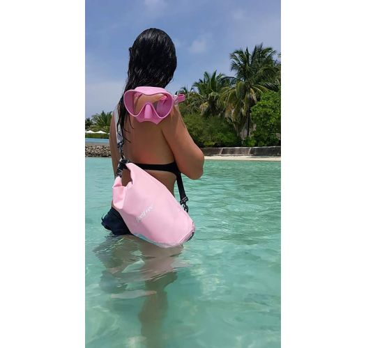Pink waterproof bag 5 L - DRY TUBE 5L ROSE