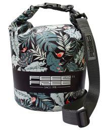 Tropische wasserdichte Tasche mit 5 L Volumen - DRY TUBE 5L TROPICAL BLACK/GREY