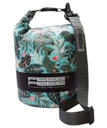 Tropical green waterproof bag 5 L - DRY TUBE 5L TROPICAL GREEN/GREY