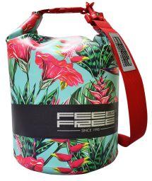 Tropisch blau/rote wasserdichte 5 L Tasche - DRY TUBE 5L TROPICAL TEAL/RED