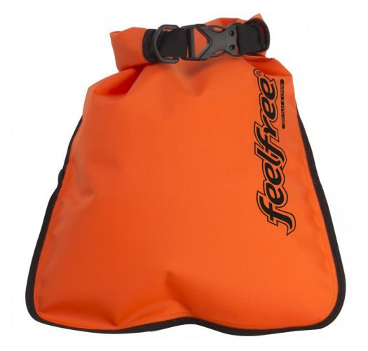 Waterproof red shoulder bag 5L - INNER DRY FLAT 5L ORANGE