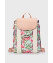 Nude tropical print waterproof backpack - MINI BACKPACK HARMONY MINT