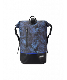 Midnight blue waterproof backpack with leaves - MINI DRY TANK TROPICAL MIDNIGHT BLUE