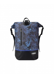 Wasserdichter Rucksack nachtblau mit Blattprint - MINI DRY TANK TROPICAL MIDNIGHT BLUE