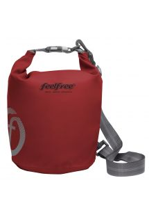 Rode waterdichte tas 3 l - TUBE MINI 3L ROUGE