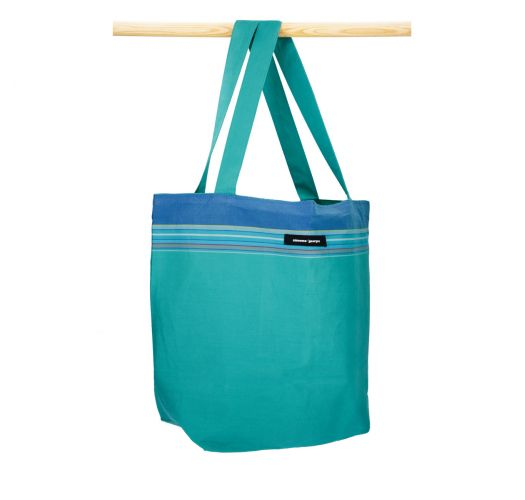 エメラルドグリーンの柔らかいキコイコットンバッグ - BEACH BAG KIKOY MARTIN