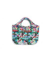 Colourful Cuba printed bag with pink tassels - CIPO VERDE