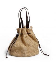 Pouch-purse style woven beach bag - AÇOREZ