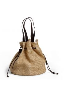 Pouch-purse style woven beach bag - AÇOREZ