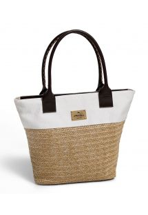Dual-material shopper-style beach bag - ATALAIA