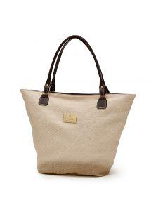 Natural beige beach bag - SANDY BEACH