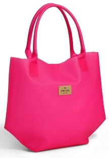 Pink shopper in silicone-type material - VALDIVIA