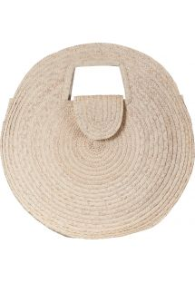 Large round basket in natural straw - PANIER SALINA L NATUREL