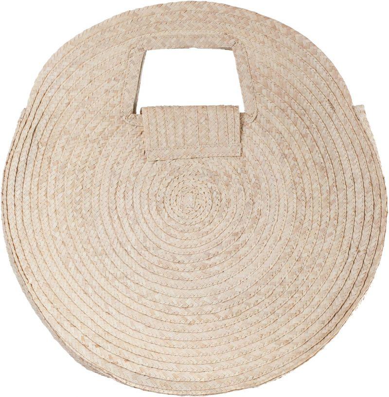Large round basket in natural straw - PANIER SALINA L NATUREL