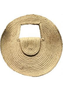 Round basket in natural straw - PANIER SALINA S NATUREL
