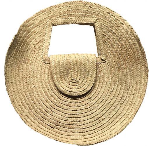 Round basket in natural straw - PANIER SALINA S NATUREL