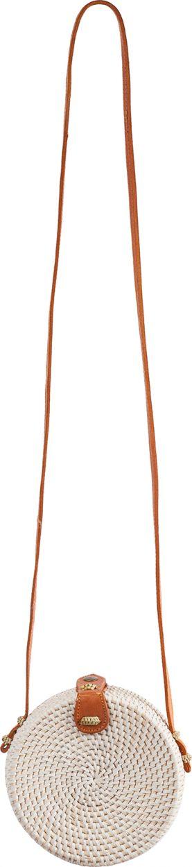 Small round white rattan shoulder bag - SAC BALIBAG S WHITE