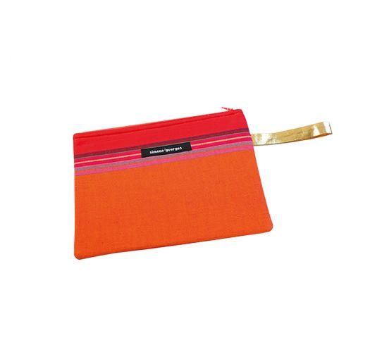 Min lommebok i oransj av stoff og kunstig skinn - MINI POCKET MOOREA