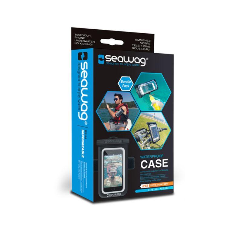 Seawag bundle pack waterproof case with armband, floating selfie stick & bike mount