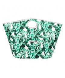 Large beach bag, hand carry, tropical motif - BAG BANANA PALM