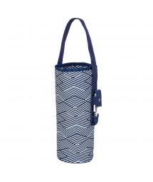 Blue print insulated bottle cool bag - BOTTLE MONTAUK