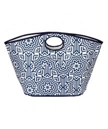 Blue printed sturdy tote beach bag - CARRYALL BAG AZULE