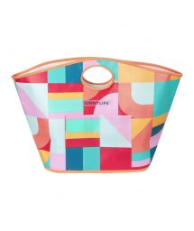 Colorful geometric rugged tote beach bag - CARRYALL BAG ISLABOMBA