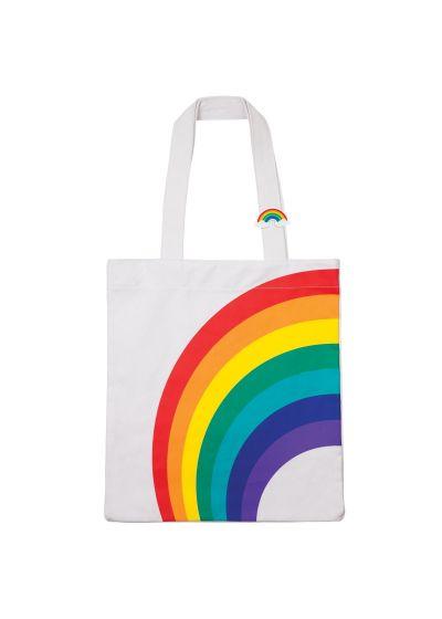 Tote bag style beach bag with rainbow motif - COOL RAINBOW