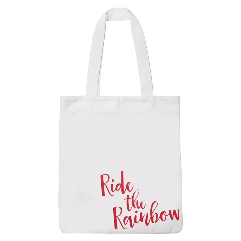Tote bag style beach bag with rainbow motif - COOL RAINBOW