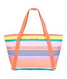 Colourful striped beach cool bag - COOLER BAG HAVANA