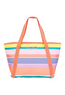 Colourful striped beach cool bag - COOLER BAG HAVANA