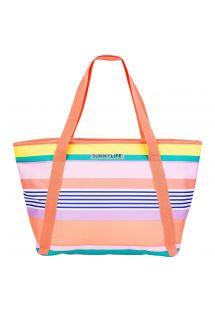 Изотермическая пляжная сумка в цветную полоску - COOLER BAG HAVANA