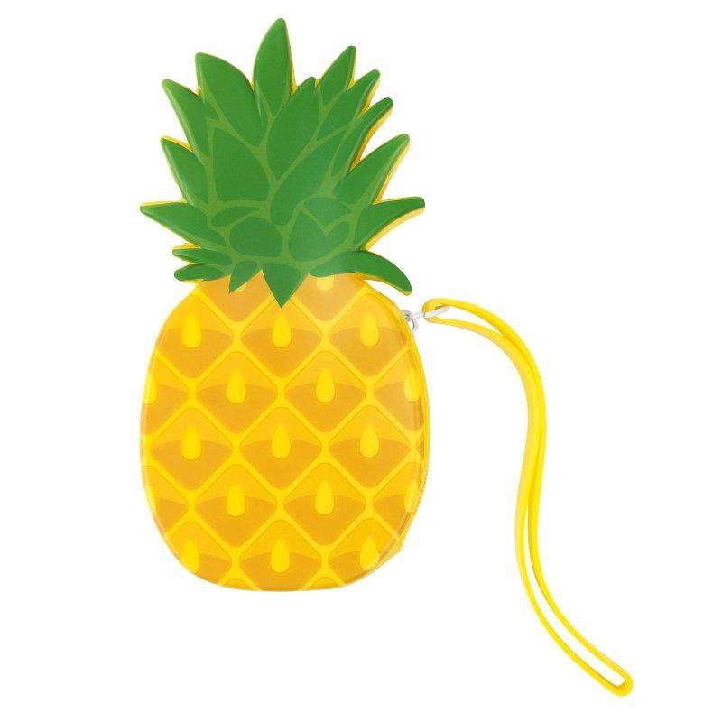 Vattentät ananasformad silikonpåse - PINEAPPLE COIN POUCH