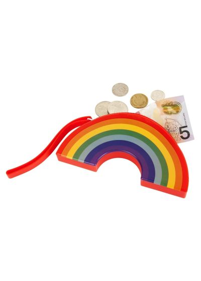Waterproof rainbow silicone pouch - RAINBOW COIN POUCH