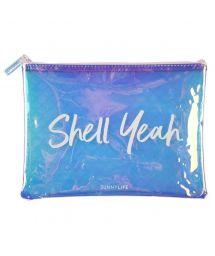 Mermaid printed plastic pouch - SEE THRU POUCH MERMAID