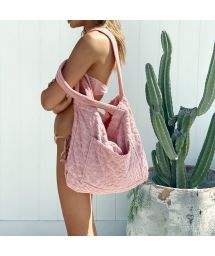 TERRY TOTE COTW PINK