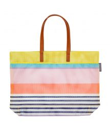 Multicoloured stripe printed beach bag - TOTE HAVANA