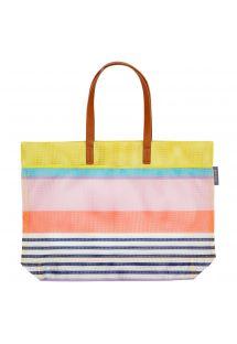 Strandveske med fargerike striper - TOTE HAVANA