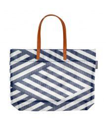 Strandväska med marint geometriskt tryck - TOTE MONTAUK
