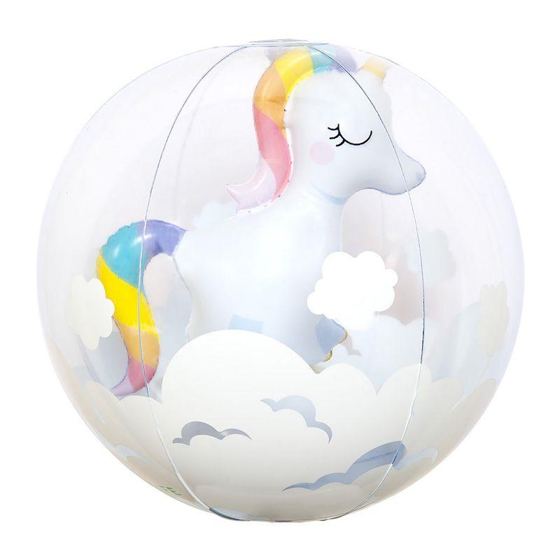 Aufblasbarer Ball mit Einhorn - BALL 3D UNICORN