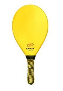 Raquette frescobol professionnelle jaune fibre de carbone - BEACH BAT CP16E