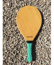 Frescobol racket semi pro wooden honey - MADEIRA GOIABAO