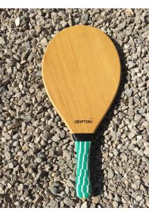 Frescobol racket semi pro wooden honey - MADEIRA GOIABAO
